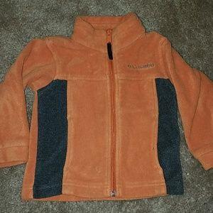 Orange and grey Columbia fleece